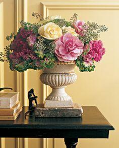 Unique Kale cabbage floral arrangement