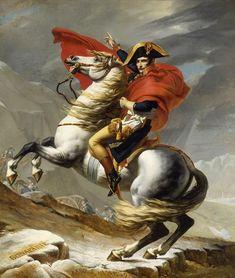 Napoleon Bonaparte na Wielkiej Przełęczy Świętego Bernarda, obraz Jacques-Louis Davida z 1800 roku