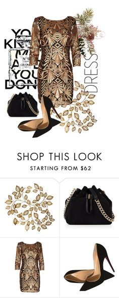 """""""Party Dress"""" by consuelor ❤ liked on Polyvore featuring Chanel, Karen Millen, Christian Louboutin and partydress"""
