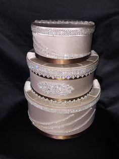 Wedding Money Box Money Gift Bday Made with Swarovski Cappuccino New Money Box Wedding, Wedding Gift Boxes, Bling Wedding, Gifts For Wedding Party, Wedding Cards, Party Gifts, Box Deco, Gift Card Boxes, Wedding Accessories