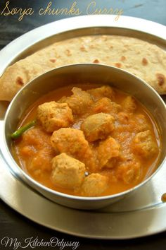 Soya Chunks/Meal Maker curry for chapathi /roti without coconut a quick and ery very tasty gravy ..