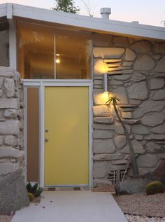 Beautiful mid-century entryway in Palm Springs