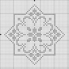 Pattern star biscornu - Crochet / knit / stitch charts and graphs Biscornu Cross Stitch, Cross Stitch Embroidery, Embroidery Patterns, Crochet Chart, Filet Crochet, Cross Stitch Designs, Cross Stitch Patterns, Blackwork, Cross Stitch Boards