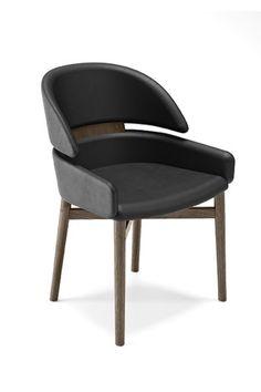 La silla Lloyd de Fiam es cómoda y envolvente, a la vez que elegante y refinada. Lloyd tiene una estrucutra de madera maciza y está tapizada en cuero en diferentes acabados. #silla #saladeestar #lloyd #fiam #arredaremoderno Contemporary Chairs, Modern Glass, Solid Wood, Armchair, Dining Chairs, Leather, Furniture, Design, Home Decor