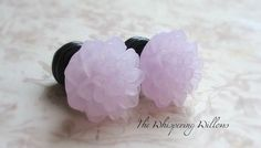 Frosted Flower Plugs for Gauged Ears by TheWhisperingWillows, $24.99