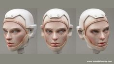 Paint a realistic looking face. Photos only