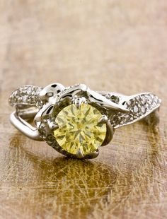 1000 images about yellow sapphire engagement rings on