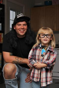 wayne and garth. especially cute because it's parent and kid.