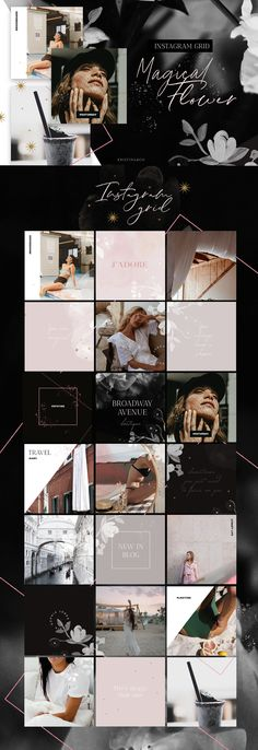 Ideas For Design Layout Template Fonts Instagram Grid, Instagram Design, Instagram Story, Instagram Posts, Instagram Layouts, Instagram Mobile, Instagram Collage, Flowers Instagram, Social Media Template