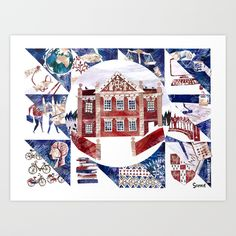 Buy Cambridge University Life Art Print by sophiewainwright. Worldwide shipping available at Society6.com. Just one of millions of high quality products available.
