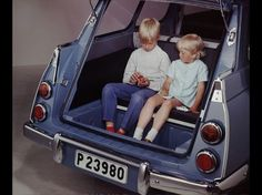 The Saab 95 rear-facing third seat. I spent much time there as a child.