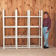 Bin Warehouse 12 Tote Storage System H 4 Shelf Shelving Unit Garage Storage Systems, Basement Storage, Storage Room, Kitchen Storage, Basement Laundry, Garage Shelf, Closet Storage, Laundry Rooms, Tote Storage