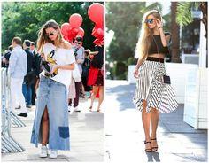 İlkbahar ve yaz sokak modası 17 şık etek kombini 2015