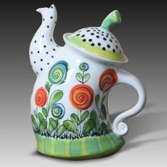 Teacup clipart pottery painting - pin to your gallery. Explore what was found for the teacup clipart pottery painting Pottery Teapots, Ceramic Teapots, Ceramic Pottery, Pottery Painting, Ceramic Painting, Ceramic Art, Crackpot Café, Cute Teapot, Teapots Unique