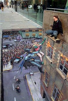 Batman and robin chalk art sidewalk http://www.squidoo.com/chalk-art?utm_source=google&utm_medium=imgres&utm_campaign=framebuster