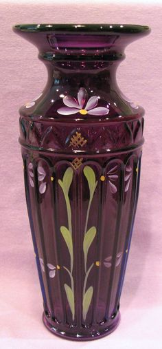 Fenton Royal Purple Yenowine Art Glass Vase -- depending on its size where it will be moved around to.
