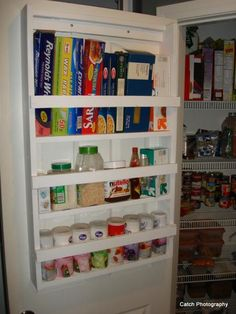 Pantry Storage [Do this to the bottom cabinets in the kitchen.]