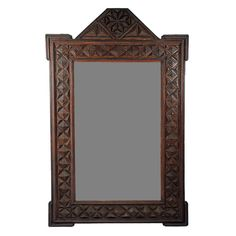 Fine Robust Tramp Art Mirror with Star Apex Top | From a unique collection of antique and modern wall mirrors at http://www.1stdibs.com/furniture/mirrors/wall-mirrors/