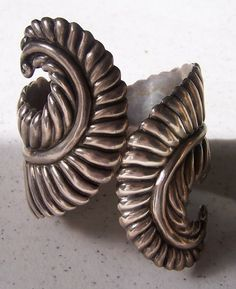 Taxco Mexican Silver Cuff Bracelet