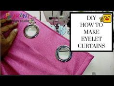 how to make eyelet curtains Closet Curtains, Ikea Curtains, Drop Cloth Curtains, Grommet Curtains, Bedroom Curtains, Shower Curtains, Drapery, Diy Eyelet Curtains, Velvet Curtains