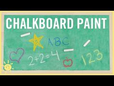 DIY | How to Make Chalkboard Paint (Only 2 Ingredients!) - YouTube