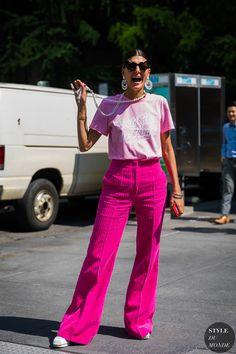New York SS 2018 Street Style: Giovanna Engelbert Battaglia