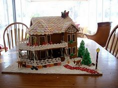 Gingerbread house last year, that roof was ten dollars in neccos!