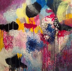 "Saatchi Online Artist: Cristina B; Acrylic, 2012, Painting ""Jellyfishes at the disco"" #art #abstract"