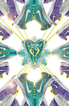 In deze advertentie zie je verschillende Nike schoenen die ansich een inspirerend beeld opleveren. Er is gebruik gemaakt van reflectie en ritme en de plaatsing zorgt voor beweging. - Nike Free 5.0 door Jonathan Kim op Behance