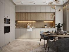Minimal Kitchen Design, Kitchen Room Design, Home Room Design, Kitchen Cabinet Design, Home Decor Kitchen, Interior Design Kitchen, Minimalistic Kitchen, Small Apartment Interior, Modern Kitchen Interiors