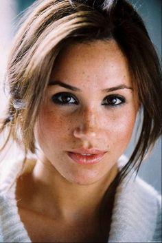 Meghan Markle. So beautiful plus she has amazing freckles!