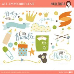 Baby Mine Boy Clipart Vector  @photoshoplady