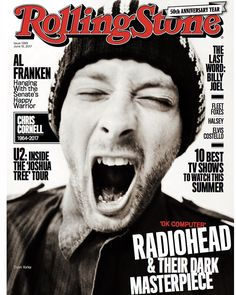 dannybones64 Yeah ! Just out ! Rolling Stone cover of Thom Yorke from a session during OK Computer era Radiohead . So stoked ! #radiohead #rollingstone