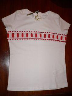 TallerdeLuna: Camiseta decorada en rojo