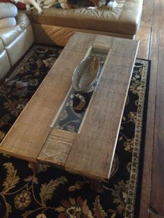 Homemade Coffee Table From Repurposed Lumber. We Cut Down An Old Catch  Corral On The