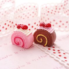 Kawaii Cabochon Fake Sweets Decoden Strawberry by SophieToffeeCo, $4.80