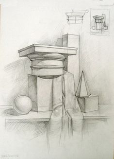 Закрыть Pencil Sketch Drawing, Pencil Art, Pencil Drawings, Academic Drawing, Train Drawing, Object Drawing, Still Life Drawing, Architectural Prints, Graphite Drawings