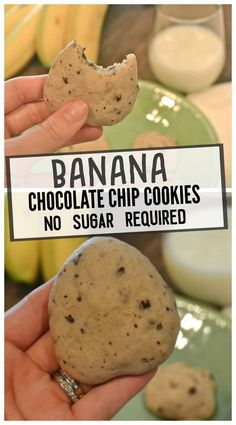 Banana Chocolate Chip Cookies – Make the Best of Everything Best Picture For special diets For Your Taste You are looking for something, and it is going to tell you exactly what you are looking for, a Healthy Cookie Recipes, Healthy Cookies, Dessert Recipes, Healthy Desserts, Xmas Recipes, Healthy Chef, Healthy Smoothies, Healthy Eats, Paleo Recipes