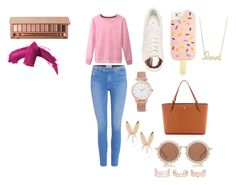 """""""Girly Casual"""" by lzycat on Polyvore featuring Tory Burch, Paige Denim, adidas, House of Holland, Larsson & Jennings, Aamaya by priyanka, Sydney Evan, New Look, Urban Decay and Elizabeth Arden"""