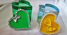 Gift packing idea from a plastic bottle for Valentine's Day