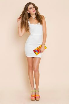 Little White Dress - sweet heart with a caged back