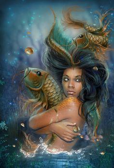 Oxum ou Oloxum, na religião ioruba, é um orixá que reina sobre a água doce dos rios, o amor. Irmã de Iansã, deusa das águas salgadas Oxum, na mitologia iorubá, é um orixá feminino filha de Iemanjá e Oxalá.