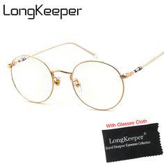 6ebb3dbbb5 LongKeeper Oversize Eyeglasses Women Transparent Clear Glass Optic Frames  Eye Glasses Men Diopter Spectacles oculos de grau  Affiliate