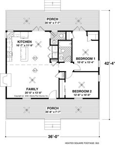 Awesome 20X30 Single Story Floor Plan One Bedroom Small House Plan Move Largest Home Design Picture Inspirations Pitcheantrous
