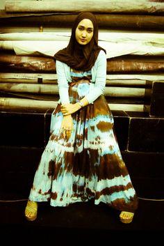Gambar Dress Muslim Wanita Ala Dian Pelangi