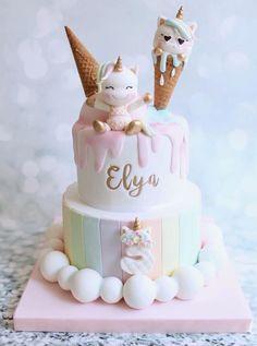 Baby Girl Birthday Cake, Beautiful Birthday Cakes, First Birthday Cakes, 26th Birthday, Birthday Ideas, Bolo My Little Pony, Cake Designs For Girl, Rodjendanske Torte, Birthday Cake Decorating