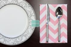 NAPKINS - Set of 4 - Premier Prints - ZIG ZAG - Baby Pink White - Table Linen Home Decor Cotton Cloth Fabric Dining Dinner Napkins by LinenVision on Etsy https://www.etsy.com/listing/209768243/napkins-set-of-4-premier-prints-zig-zag