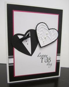 Wedding Punch Art by - Cards and Paper Crafts at Splitcoaststampers Wedding Shower Cards, Wedding Cards, Quilling, Wedding Punch, Punch Art Cards, Karten Diy, Engagement Cards, Wedding Anniversary Cards, Happy Anniversary