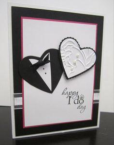 Punch art wedding card