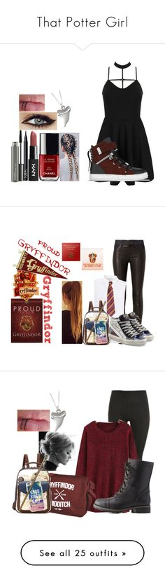 """""""That Potter Girl"""" by guerriero-368 on Polyvore featuring jeans, pants, pink, red jeans, pink skinny jeans, red skinny jeans, pink high waisted jeans, super high rise skinny jeans, WithChic and SWEAR"""